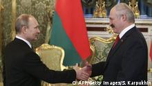 Russland Weißrussland Lukaschenko bei Putin
