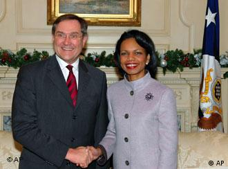 Franz-Josef Jung and Condoleeza Rice