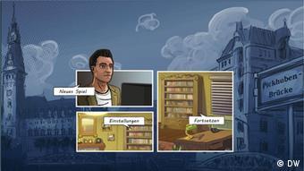 Ein Screenshot des Serious Games Tatort Elbkanal der Deutschen Welle