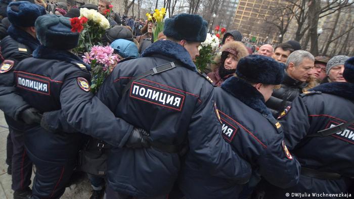 Полицейский кордон во время уличной акции. Фото из архива