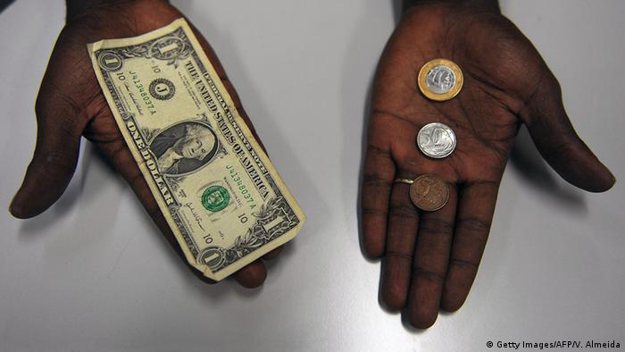 Dollar Real Wechselkurs Symbolbild Währung USA Brasilien