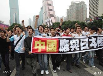 Demonstration gegen Japan in China