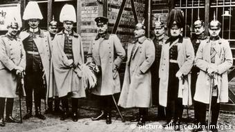 Deutsche Militärmission auf dem Weg in die Türkei 1913
