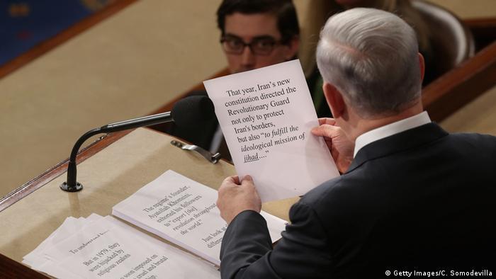 Benjamin Netanjahu spricht vor dem US-Kongress (Foto: Getty Images)
