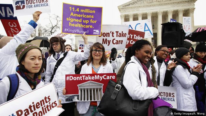 Obamacare Demonstration in Washington (Getty Images/A. Wong)
