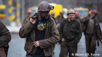 Шахтеры на одной из шахт Донецкой области