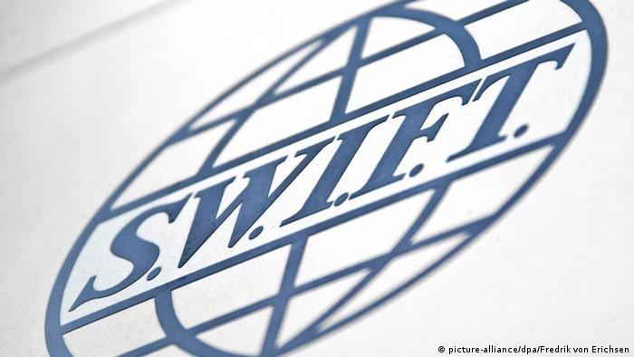 Logo Swift Zentrale für Finanztransaktionen Frankfurt Deutschland