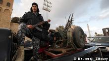 Libyen Polizist in Tripoli