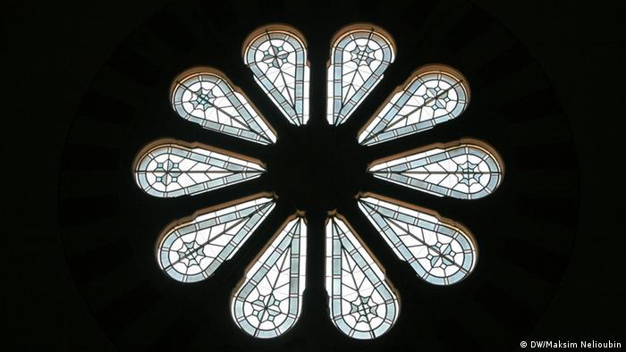 Круглое окно в Императорском зале