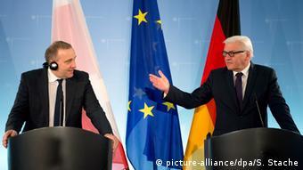 Пресс-конференция министров иностранных дел Польши и Германии