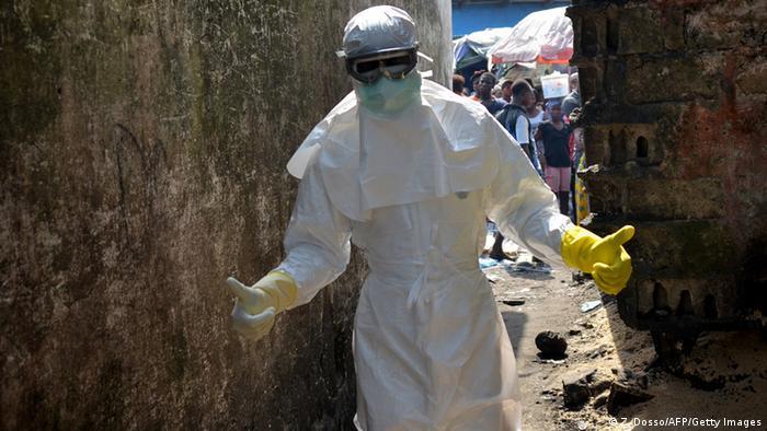 Lucha contra el ébola en Liberia.