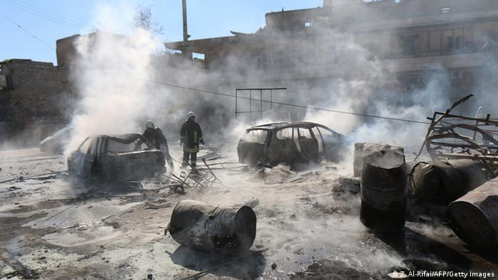 Syrien Gefechte zwischen Rebellen und Regierungstruppen in Aleppo