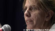 05.03.2015*** Argentine federal judge Sandra Arroyo Salgado, ex-wife of Argentine late prosecutor Alberto Nisman (C), offers a press conference on the results of the parallel investigation she ordered into his death, in San Isidro, Buenos Aires, on March 5, 2015. Nisman died mysteriously after accusing Argentine president Cristina Fernandez de Kirchner of shielding Iranians suspected of ordering the bombing at a Buenos Aires Jewish centre in 1994. Nisman was found dead on January 18, 2015 in his Buenos Aires apartment of a gunshot wound to the head on the eve of congressional hearings where he was due to present his allegations about the president. AFP PHOTO / JUAN MABROMATA (Photo credit should read JUAN MABROMATA/AFP/Getty Images)