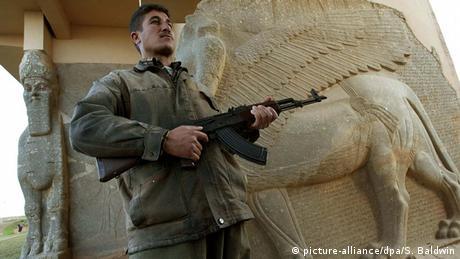 Irak Archäologie Nimrud Wachposten
