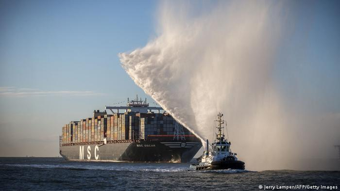 MSC Oscar auf dem Weg nach Bremerhaven