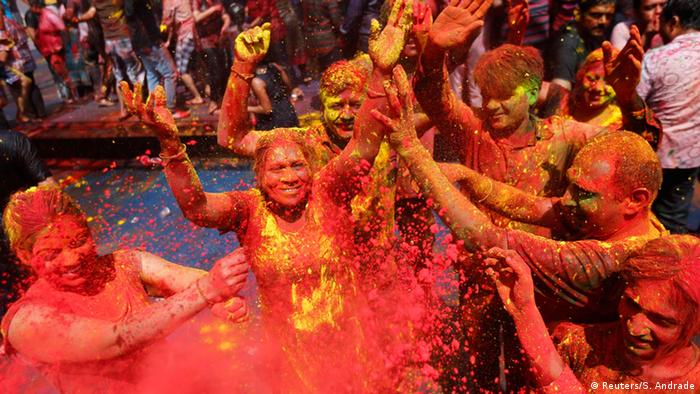 Holi Fest in Indien 2015