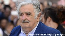 27. Feb 2015 Uruguayan President Jose Mujica looks on during his farewell ceremony in Montevideo on February 27, 2015, two days before the swearing in ceremony of the president-elect Tabare Vazquez. AFP PHOTO / PABLO PORCIUNCULA (Photo credit should read PABLO PORCIUNCULA/AFP/Getty Images)