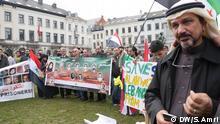 06.03.2015 Beschreibung: Ahvaz Minderheit protestiert vor dem EU-Parlament in Brüssel gegen das iranische Regime Copyright: Samih Amri DW/S.Amri Datum: 06.03.2015 Ort: Brüssel