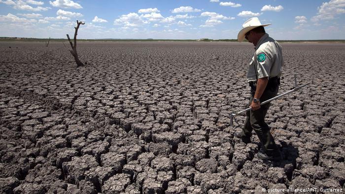 Paisagem seca no Texas