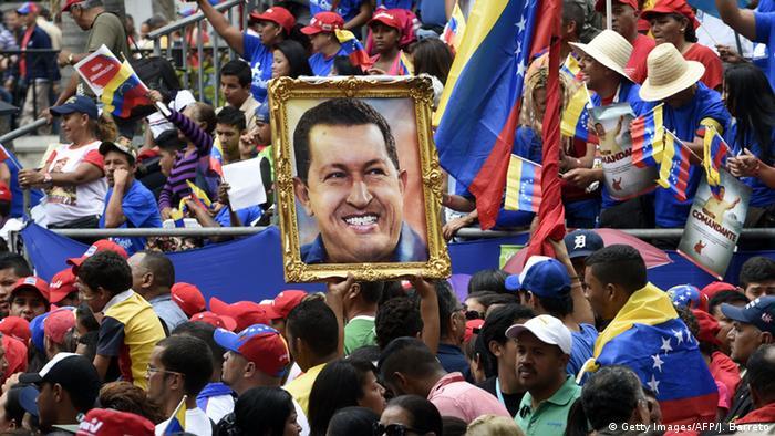 Venezuela Anhänger Hugo Chavez Kult