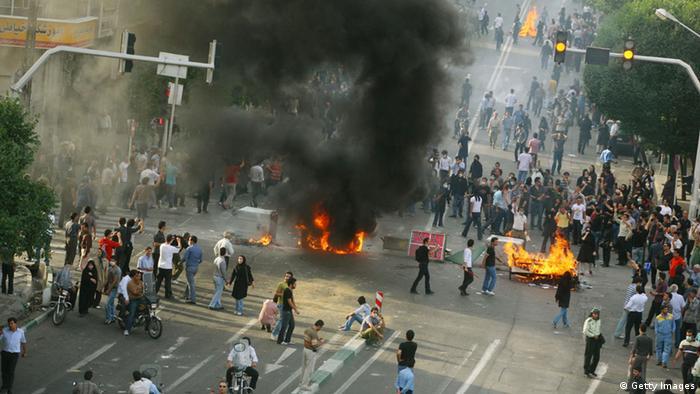 Iran Teheran Grüne Bewegung 2009 Straßenschlacht Ausschreitungen (Getty Images)