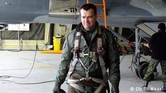 Polnischer Pilot Lukasz Wojcieszko - Foto: Barbara Wesel (DW)