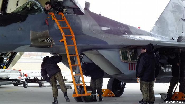 MiG-Kampfflugzeug der polnischen Luftwaffe - Foto: Barbara Wesel (DW)