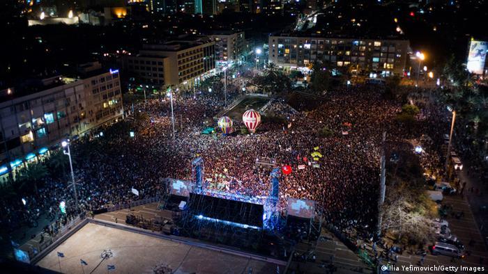 Tel Aviv: Proteste gegen die Regierung Netanjahu (Foto: Getty Images)
