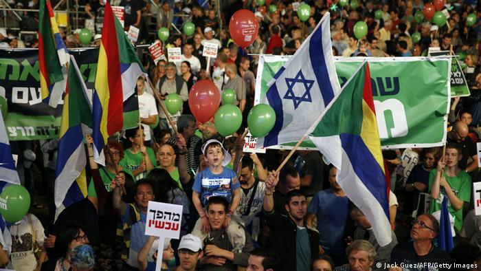Tel Aviv: Proteste gegen die Regierung Netanjahu (Foto: AFP/Getty Images)