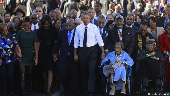 USA Selma 50. Jahrestag Bloody Sunday 1965 Präsident Obama (Reuters/J. Ernst)