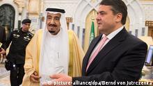 Sigmar Gabriel König und Premierminister von Saudi-Arabien Salman bin Abdelasis al-Saud