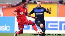 Fußball-Bundesliga-Spiel SC Paderborn gegen Bayer 04 Leverkusen