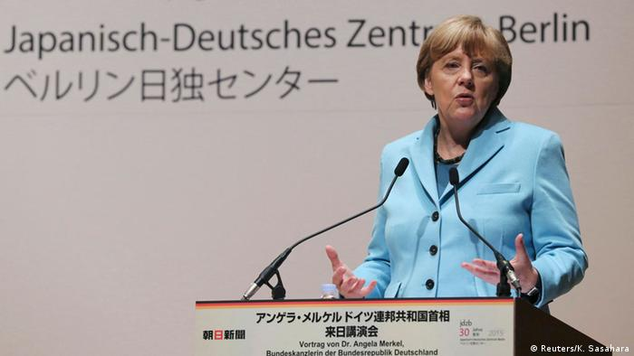 Japan Angela Merkel in Tokio