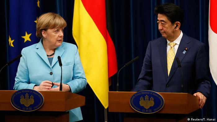 Ангела Меркель и Синдзо Абэ