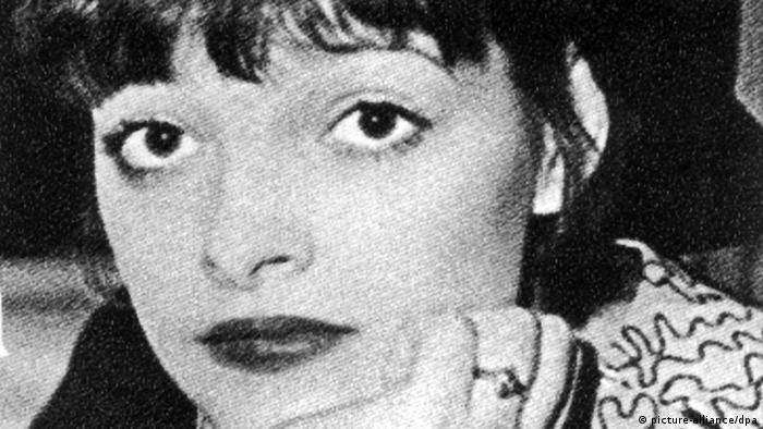 A black and white Image of Nina Hagen.
