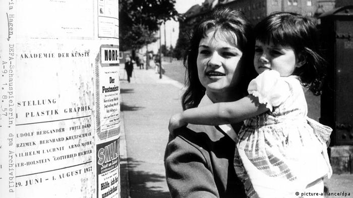 Nina Hagen, pictured with her mother.