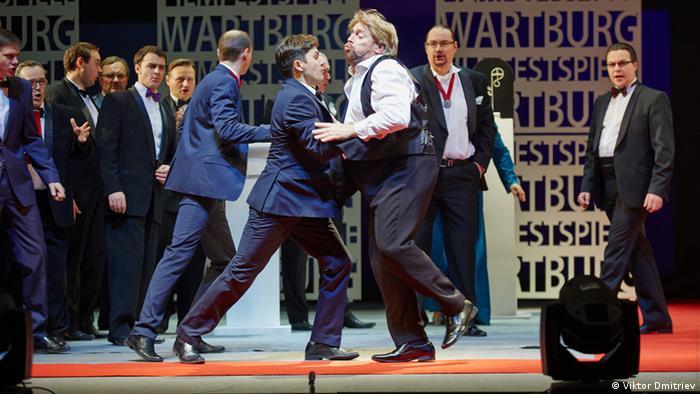 Фрагмент из оперы Тангейзер в постановке Новосибирского театра