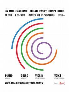 Russland Plakat Tschajkowski-Wettbewerb Moskau 2015.