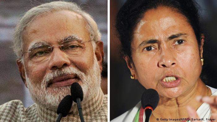 Kombobild Narendra Modi Mamta Banerjee