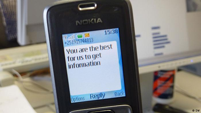 An SMS on an old Nokia (DW)