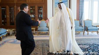 Sigmar Gabriel dhe emiri i Katarit Al Thani