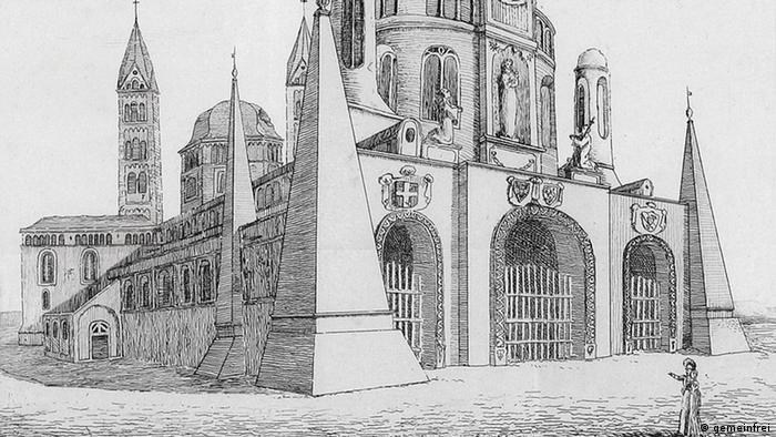 Шпайерский собор на рисунке 1817 года