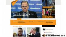 Screenshot Sputnik Website