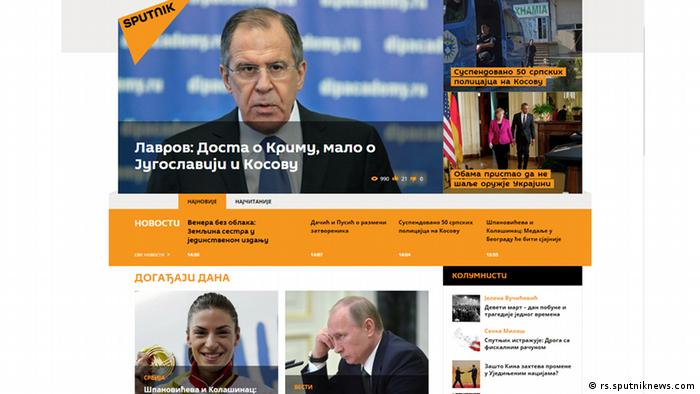 Screenshot Sputnik Website (rs.sputniknews.com)