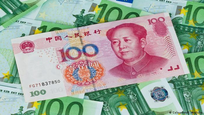 Euro and Yuan banknotes (Colourbox/E. Wodicka)