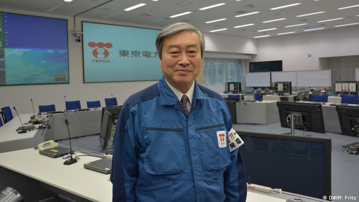AKW-Chef Tadayuki Yokomura: Aus der Katastrophe haben wir gelernt. (Foto: DW/Fritz)