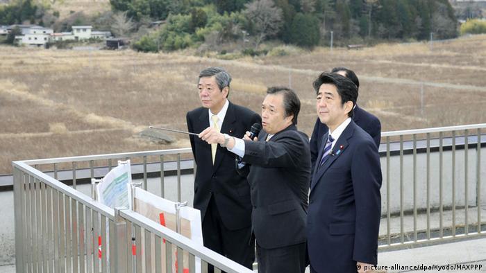 Japanischer Premier Shinzo Abe in Futaba