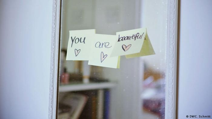 Photo: Post-its on a mirror saying you are beautiful