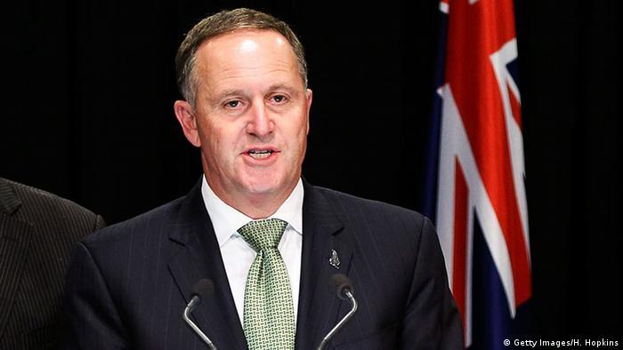 Neuseeland Premierminister John Key PK in Wellington (Getty Images/H. Hopkins)