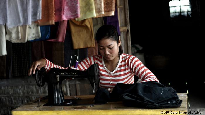 Kambodscha Textilindustrie Näherin